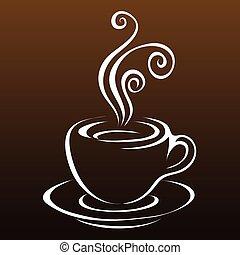 線画, コーヒー, 3