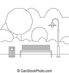 線, アウトドアの家具