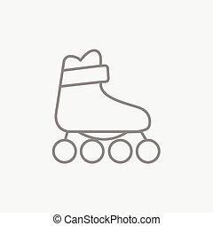 線, スケート, icon., ローラー