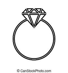 線, ダイヤモンド, アイコン