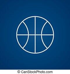 線, バスケットボール, icon., ボール