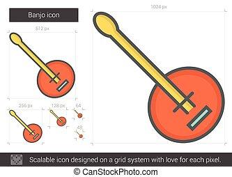 線, バンジョー, icon.