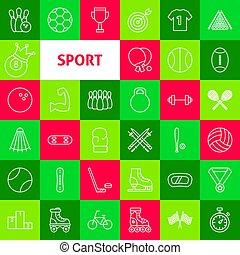 線, ベクトル, スポーツ, アイコン