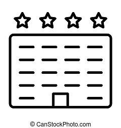 線, ベクトル, ホテル, icon., 96x96, pictogram, 単純である, 最小である