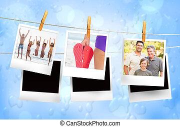 線, 合成, 写真, イメージ, 瞬間, 掛かること