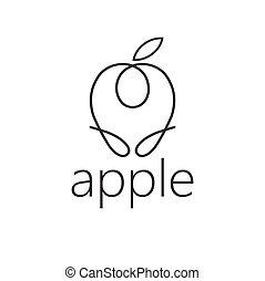線, 技能, アップル