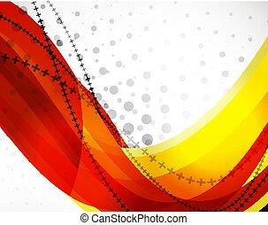 線, 波, ベクトル, 抽象的, 背景