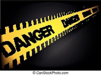 線, 注意, 危険