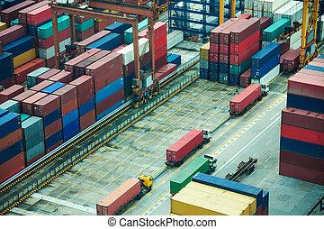 線, 港, トラック