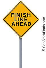 線, 終わり, 前方に