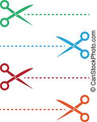 線, 色, scissor