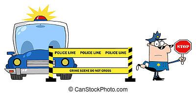線, 警官