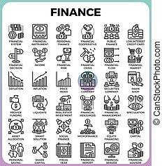 線, 金融, アイコン