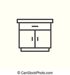 線, nightstand, アイコン