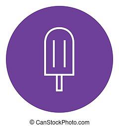 線, popsicle, icon.