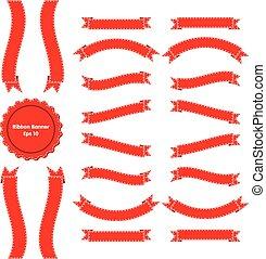 緞帶旗幟, 集合, 3, 紅色
