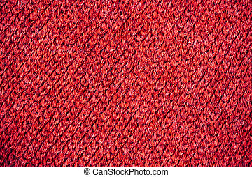 編まれる, セーター, 手ざわり, 赤