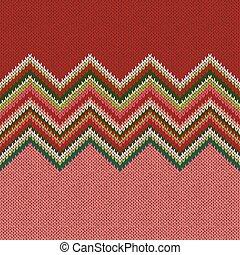 編まれる, パターン, 幾何学的, seamless, クリスマス
