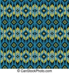 編まれる, パターン, 幾何学的, seamless