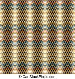 編まれる, 幾何学的, seamless, パターン