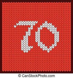 編まれる, 数, 70