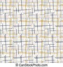 編まれる, 点検, style., フランス語, 格子, 壁紙, 上に, seamless, 内部, 家, シック, 黄色, 手ざわり, pattern., 古い, ぼろぼろ, 幾何学的, 織物, リンネル, 交差点, 装飾, 青, すべて, swatch., 印刷, 現代, ギンガム, バックグラウンド。
