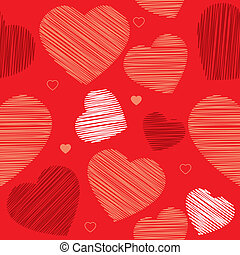 編まれる, heart., 装飾, seamless