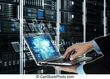 編程, 概念, 技術, 網際網路, 服務器