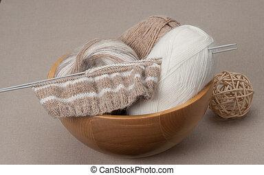 編織, 工藝, kit., 愛好, 附件