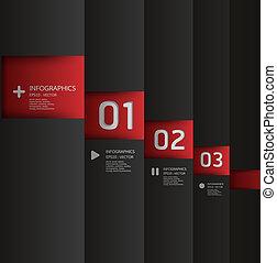 編號, 是, 圖表, 使用, 布局, 現代, 線, 水平, /, 網站, 旗幟, 矢量, 設計, 罐頭, 樣板,...