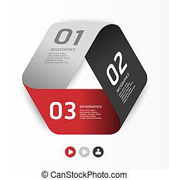 編號, 是, 圖表, 使用, 布局, 現代, 線, 水平, /, 網站, 旗幟, 矢量, 設計, 罐頭, 樣板, ...