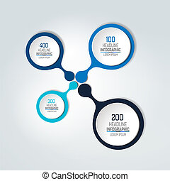 編號, infographic, scheme., 輪, element., 樣板