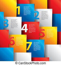 編號, infographics, 選擇, 矢量, 樣板