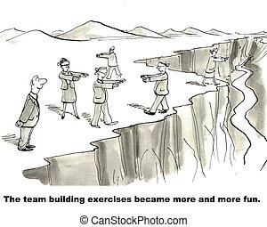 練習, チーム 建物