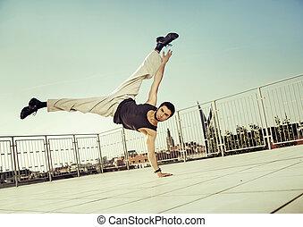 練習, 強い, 懸命に, 人