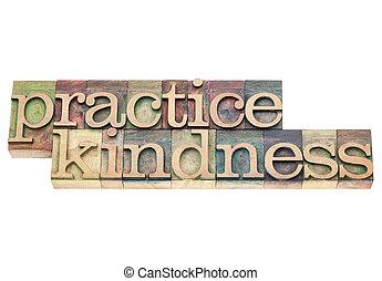 練習, 親切, 木, タイプ
