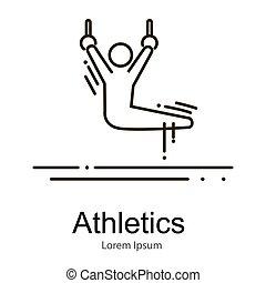 練習, 運動選手, リング, 競争, ベクトル, 体操, イラスト, スポーツ