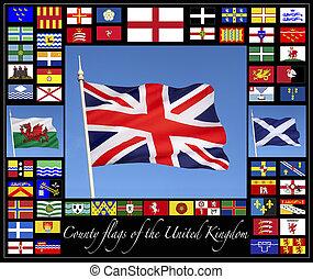 縣, 旗, ......的, the, 英國