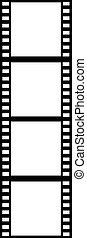 縦, フィルムの ストリップ