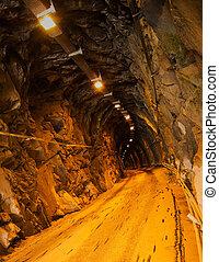縦, -, 大理石, 私の, ライト, トンネル, 採石場, 暗い