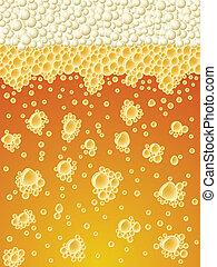 縦, 泡状である, ライト, 抽象的, バックグラウンド。, ビール, ベクトル