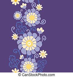 縦, 紫色, パターン, 葉, seamless, 花