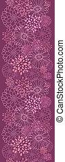 縦, 紫色, パターン, seamless, フィールド, 花, ボーダー