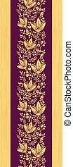 縦, 紫色, パターン, seamless, 木製である, 花, ボーダー