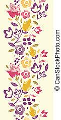 縦, 絵, パターン, seamless, 手ざわり, 花, ボーダー