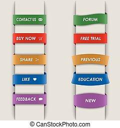 縦, 網, bookmarks, カラードの背景