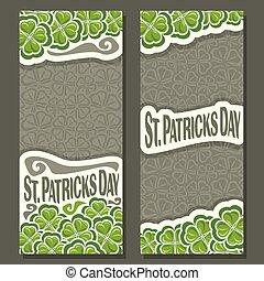 縦, patrick's, ベクトル, st., 旗, 日