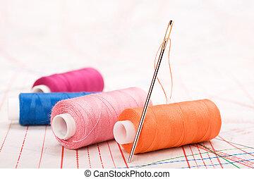 縫, 線軸, needle., 線, accessories.