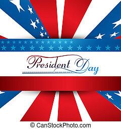 總統, 天, 在, 美國, 由于, 鮮艷, 背景, 插圖, 矢量