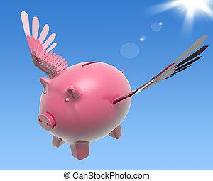 繁栄, 飛んでいる高値, 小豚, 投資, ショー